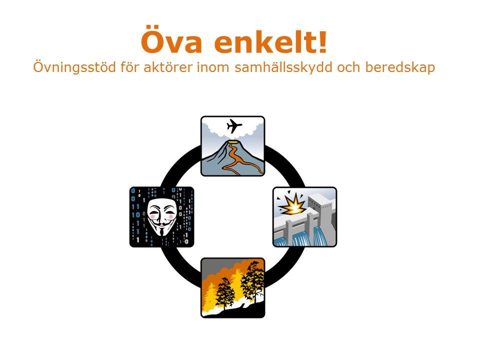 Öva enkelt! Övningsstöd för aktörer inom samhällsskydd och beredskap