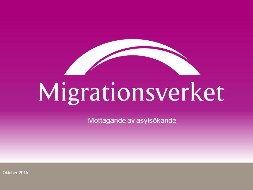 Mottagande av asylsökande Oktober 2015