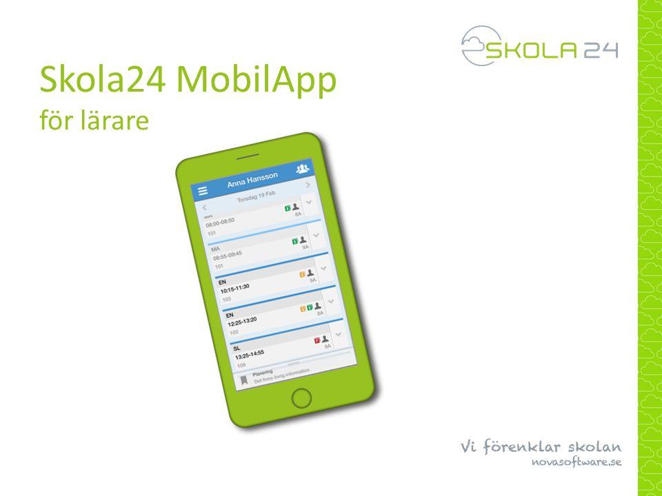 Skola24 MobilApp för lärare