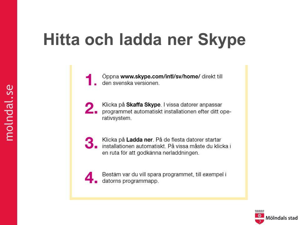 molndal.se Hitta och ladda ner Skype