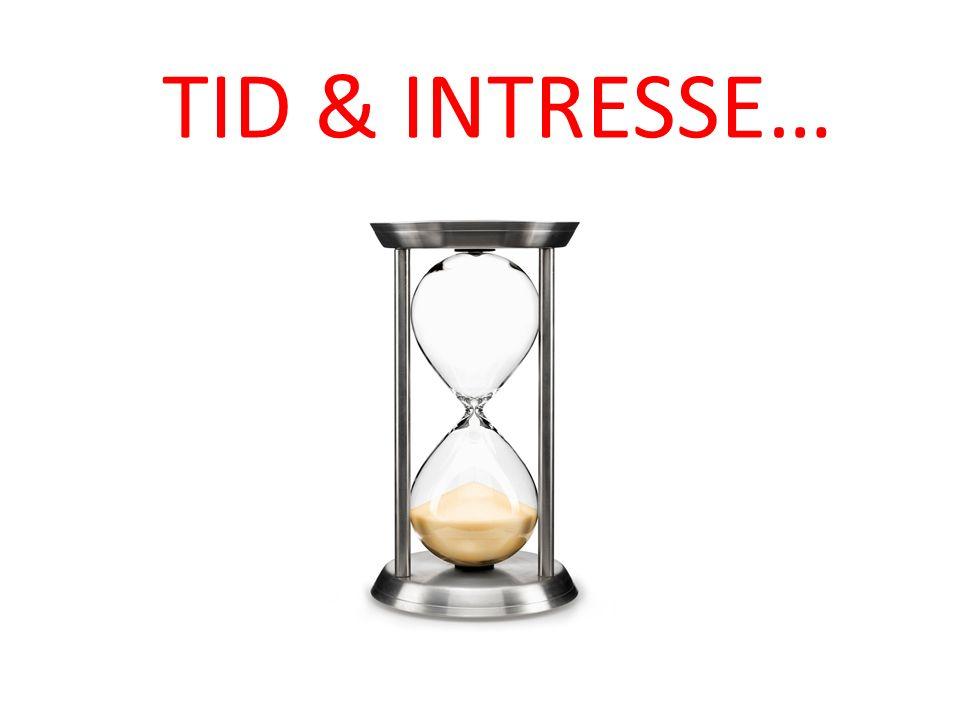 TID & INTRESSE…