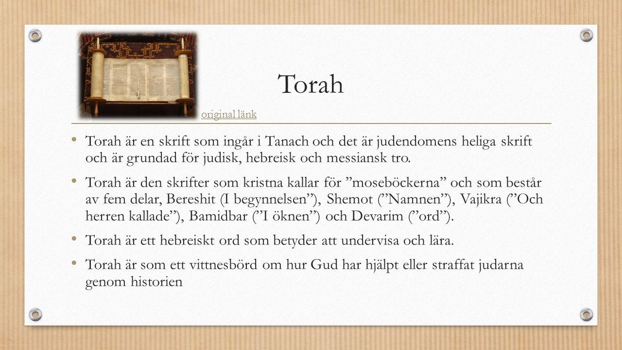 Torah Torah är en skrift som ingår i Tanach och det är judendomens heliga skrift och är grundad för judisk, hebreisk och messiansk tro.