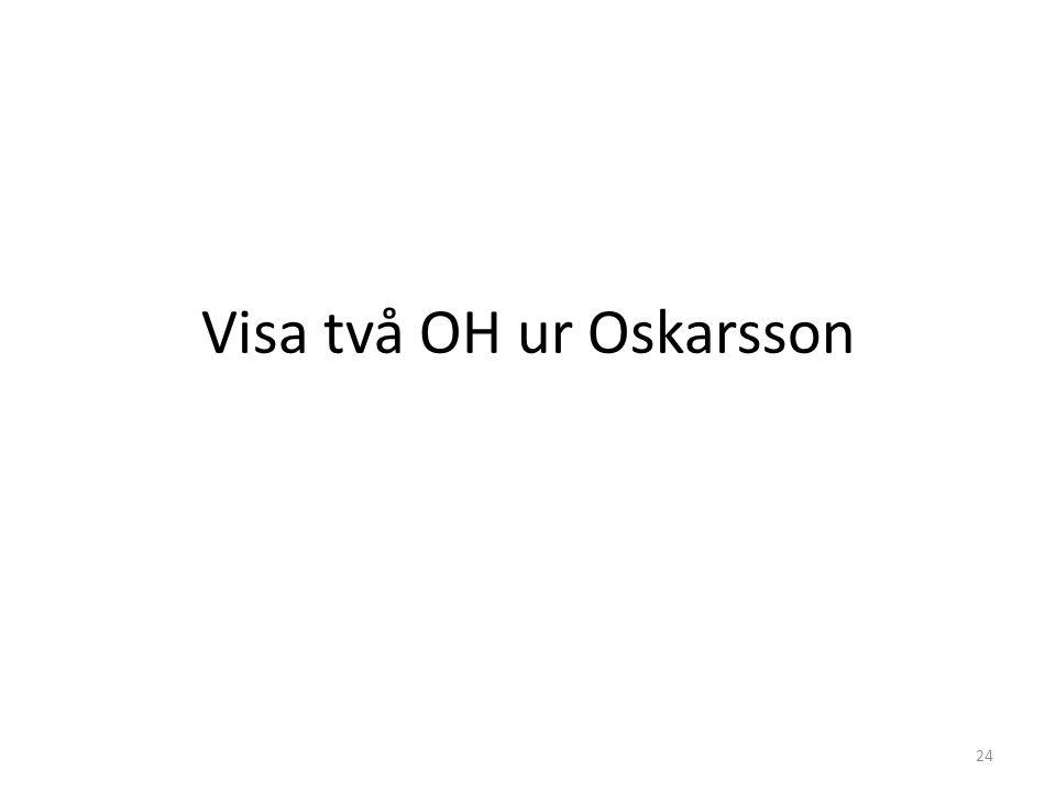 Visa två OH ur Oskarsson 24