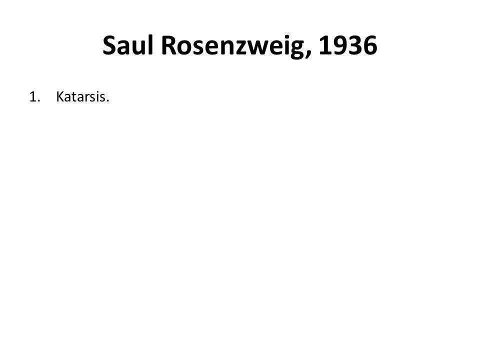 Saul Rosenzweig, 1936 1.Katarsis.