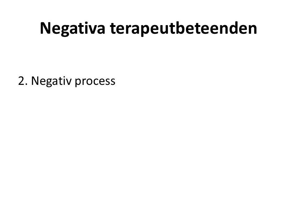 Negativa terapeutbeteenden 2. Negativ process