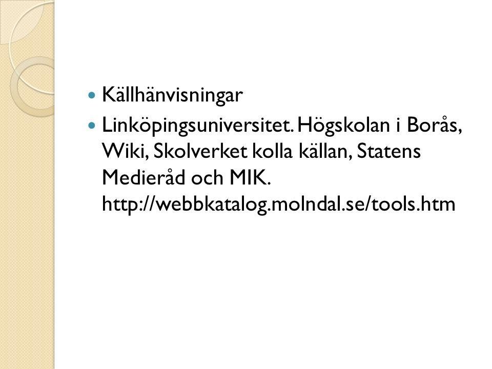 Källhänvisningar Linköpingsuniversitet.