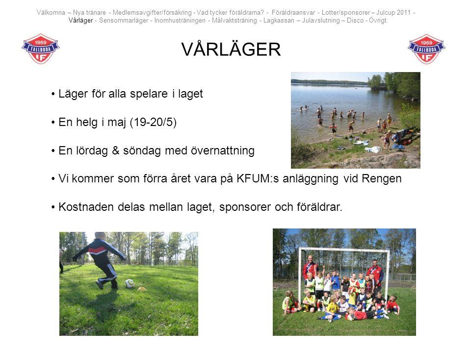 SENSOMMARLÄGER Läger för alla spelare, föräldrar och syskon i laget Två träningar och förhoppningsvis en match mot Grenna pojkar 2004 En helg i augusti (4-5/8 eller 11-12/8) En lördag & söndag med övernattning och samkväm för alla tillsammans Vi kommer vara i STF:s anläggning på Visingsö Kostnad 190 kronor/vuxen, 100 kronor/barn exklusive mat, linne, resa osv Välkomna – Nya tränare - Medlemsavgifter/försäkring - Vad tycker föräldrarna.