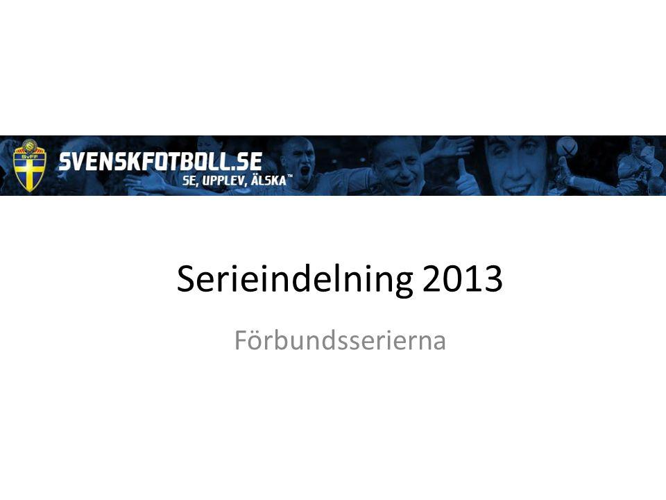 Serieindelning 2013 Förbundsserierna