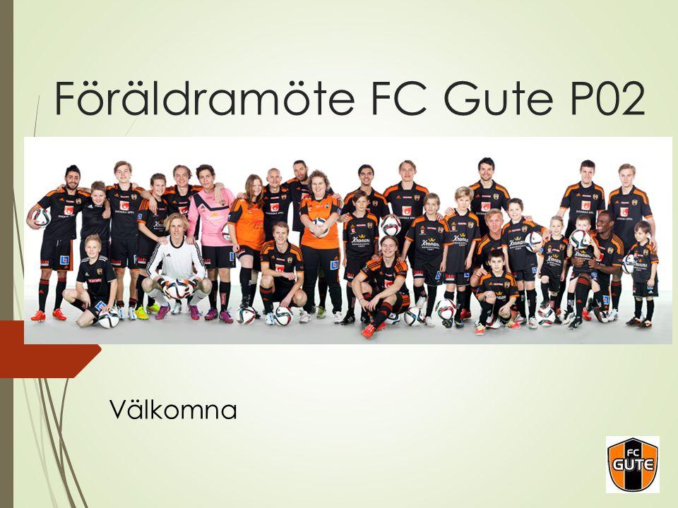 Föräldramöte FC Gute P02 Välkomna