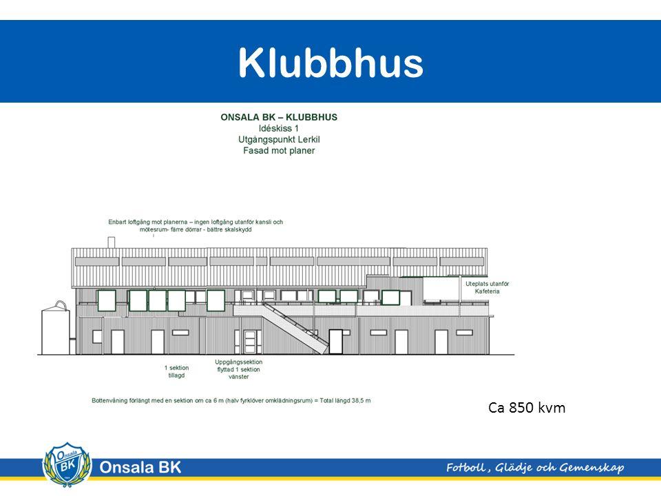 Klubbhus Ca 850 kvm