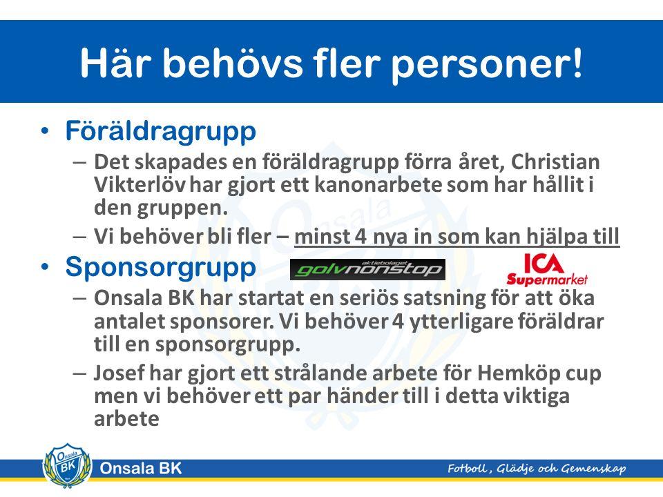 Föräldragrupp – Det skapades en föräldragrupp förra året, Christian Vikterlöv har gjort ett kanonarbete som har hållit i den gruppen.