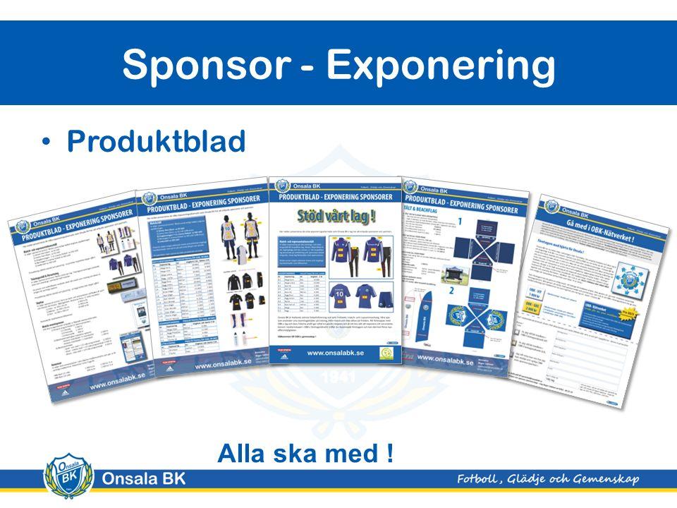 Produktblad Sponsor - Exponering Alla ska med !