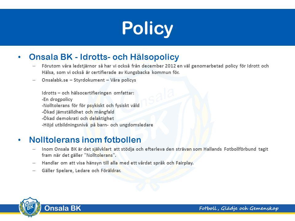 Onsala P06 - Laginformation
