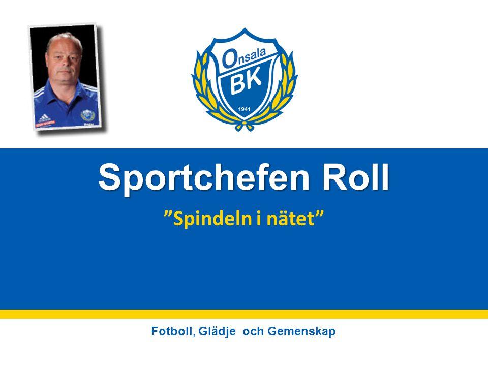 Fotboll, Glädje och Gemenskap Sportchefen Roll Spindeln i nätet