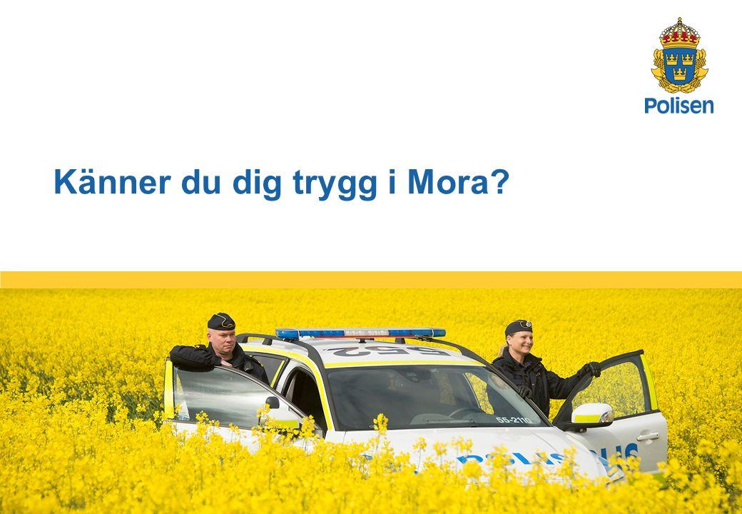 1 Känner du dig trygg i Mora?