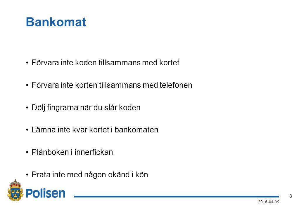 9 2016-04-05 Bedrägeri Betala inte fakturor du inte känner igen Polisanmäl och bestrid fakturan Anmälaren uppger att målsäganden blivit vilseledd vid kontakt med ett företag som heter Nova Kom i Norrköping, org nr: 556923-6481.