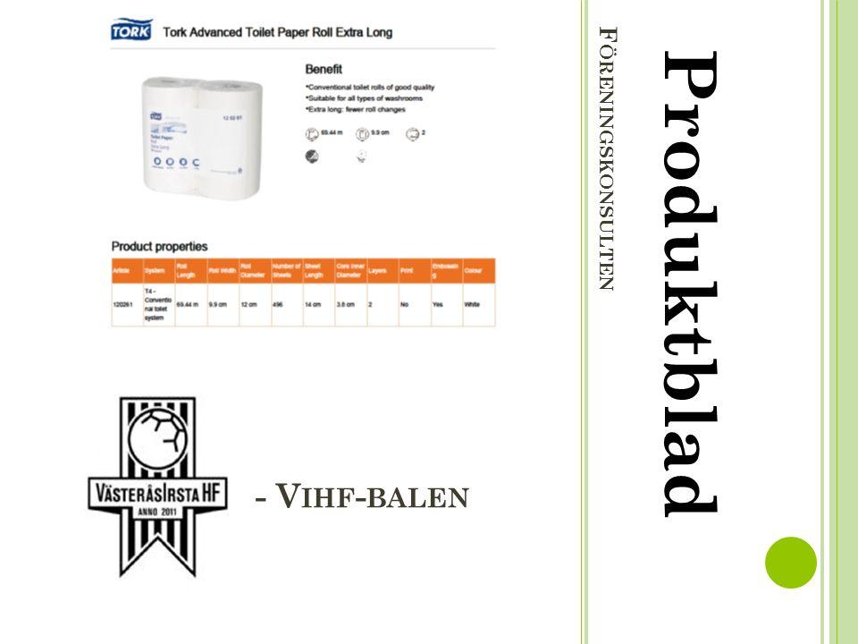 F ÖRENINGSKONSULTEN Produktblad - V IHF - BALEN