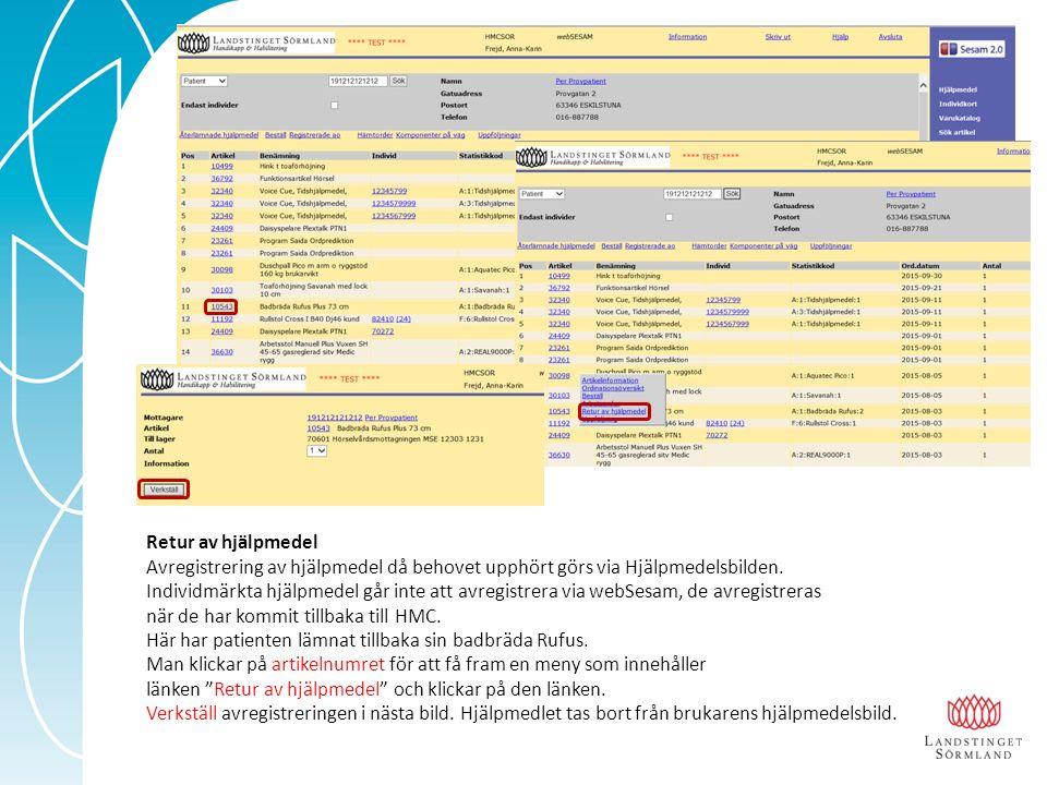 Kundorder Kundorder nås via menyn och länken Beställ finns i många bilder i webSesam.