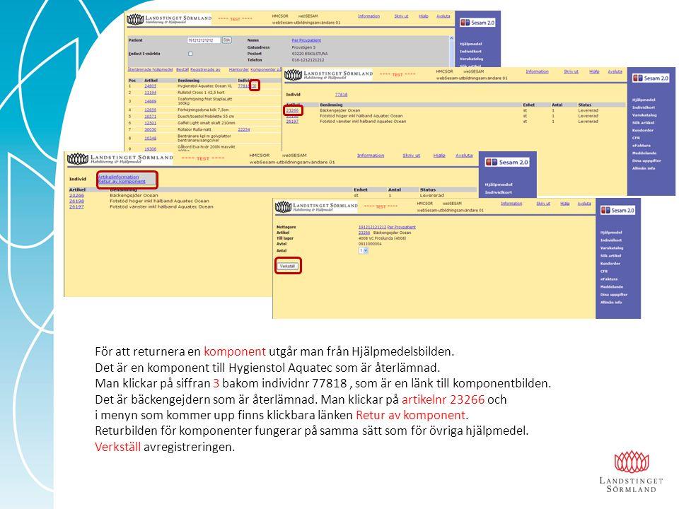 I Hjälpmedelsbilden och på Individkortet finns länken Registrerade arbetsorder där du kan hitta din, och även tidigare, registrerade arbetsorder.