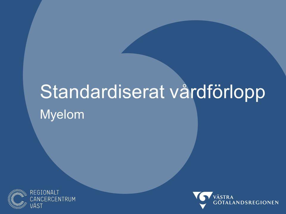 Myelom I Sverige upptäcks ca 500-600 nya fall av myelom per år varav ca 100 fall i Västra Götalandsregionen.