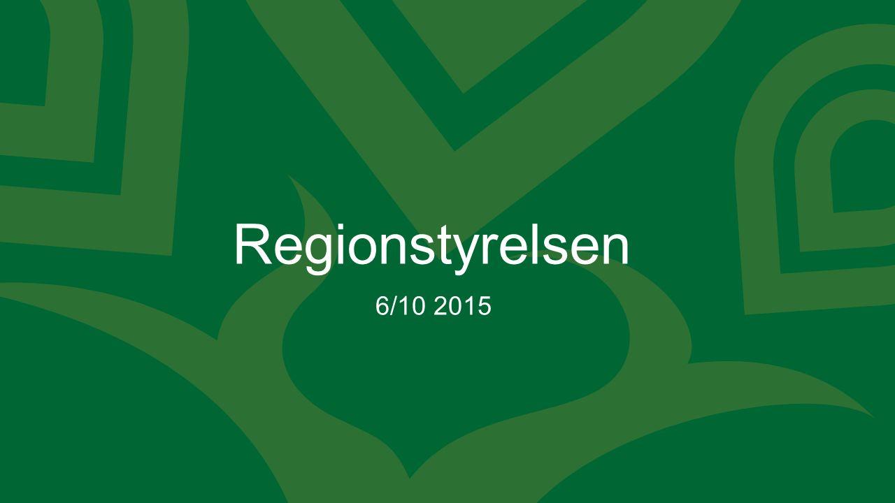 Regionstyrelsen 6/10 2015