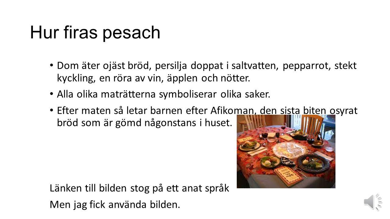 När är pesach Pesach är när den kristna påsken är. Pesach är den judiska påsken.