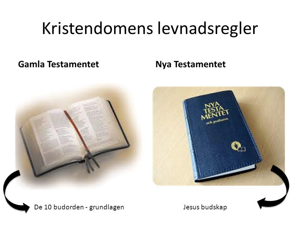 Kristendomens levnadsregler Gamla TestamentetNya Testamentet De 10 budorden - grundlagenJesus budskap