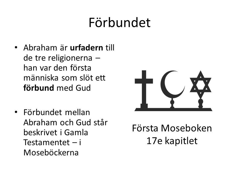 Förbundet Abraham är urfadern till de tre religionerna – han var den första människa som slöt ett förbund med Gud Förbundet mellan Abraham och Gud stå
