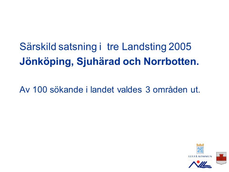 NLL i samverkan med Luleå och Bodens kommuner.6 utsågs att få gå Case management- utbildning.