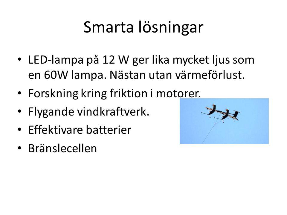 Smarta lösningar LED-lampa på 12 W ger lika mycket ljus som en 60W lampa.