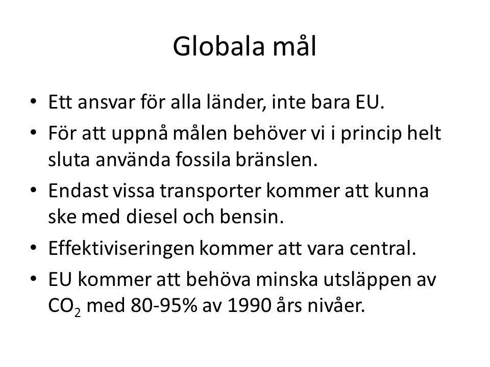 Globala mål Ett ansvar för alla länder, inte bara EU.