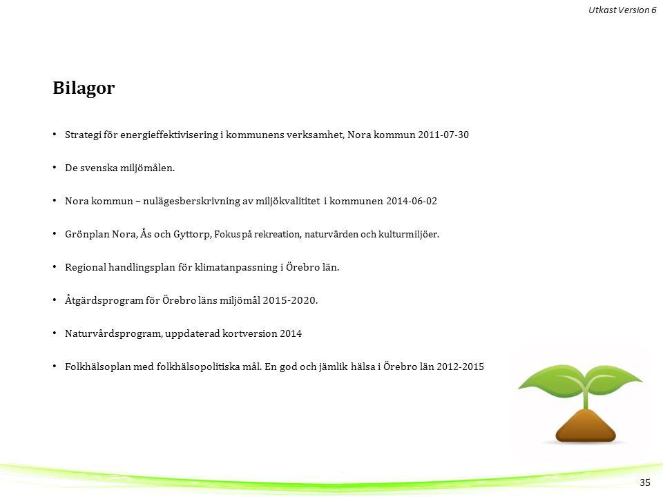 Bilagor Strategi för energieffektivisering i kommunens verksamhet, Nora kommun 2011-07-30 De svenska miljömålen.