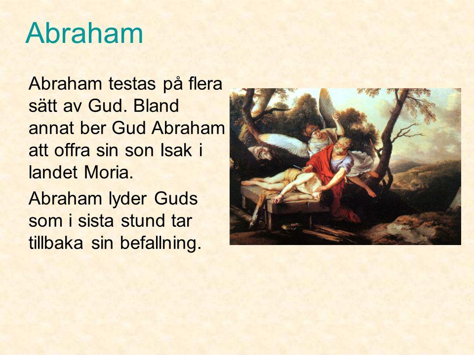 Abraham Abraham och hans fru Sara får inga barn tillsammans och börjar bli gamla.