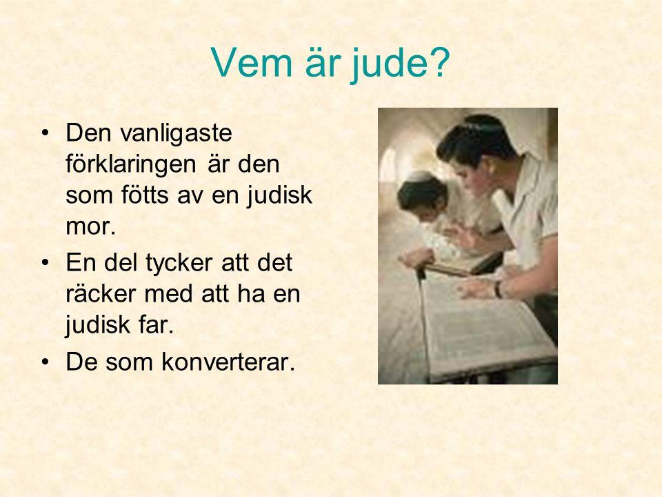 Judendom Omarbetad från Linda Svenmans orginal