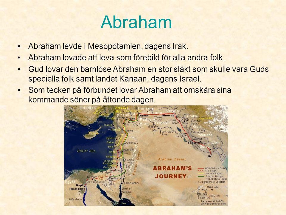 Abraham Abraham såg i livet som en helhet där alla och allt hängde ihop och då behövde man bara en Gud.