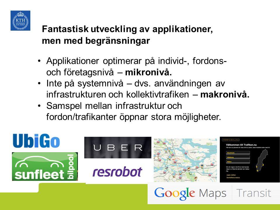 Applikationer optimerar på individ-, fordons- och företagsnivå – mikronivå.