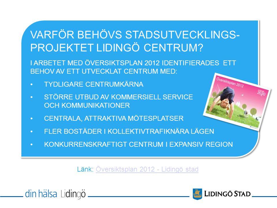 Stockholm VARFÖR BEHÖVS STADSUTVECKLINGS- PROJEKTET LIDINGÖ CENTRUM.