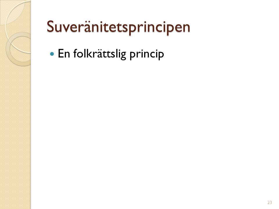 Suveränitetsprincipen En folkrättslig princip 23