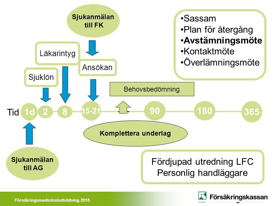 Försäkringsmedicinskutbildning 2015 Då någon behöver personliga arbetshjälpmedel för att kunna fortsätta arbeta trots funktionshinder.