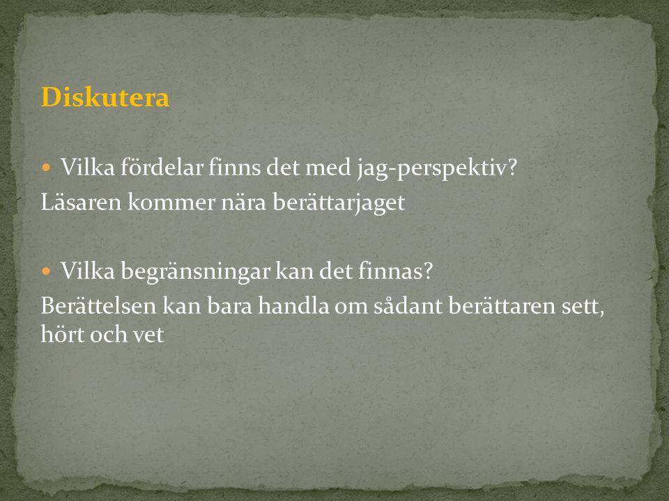 Allvetande berättare - Vet allt om karaktärerna.