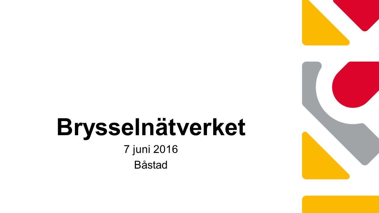 Brysselnätverket 7 juni 2016 Båstad