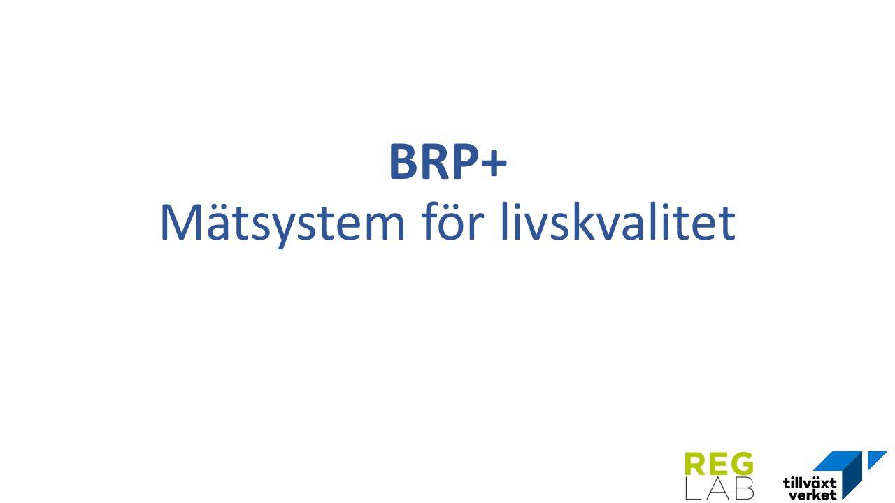 BRP+ Mätsystem för livskvalitet