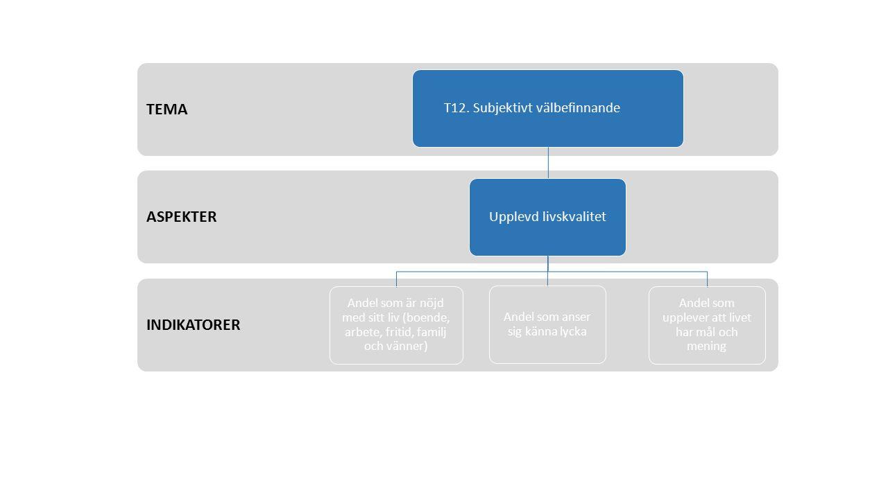 INDIKATORER ASPEKTER TEMA T12.
