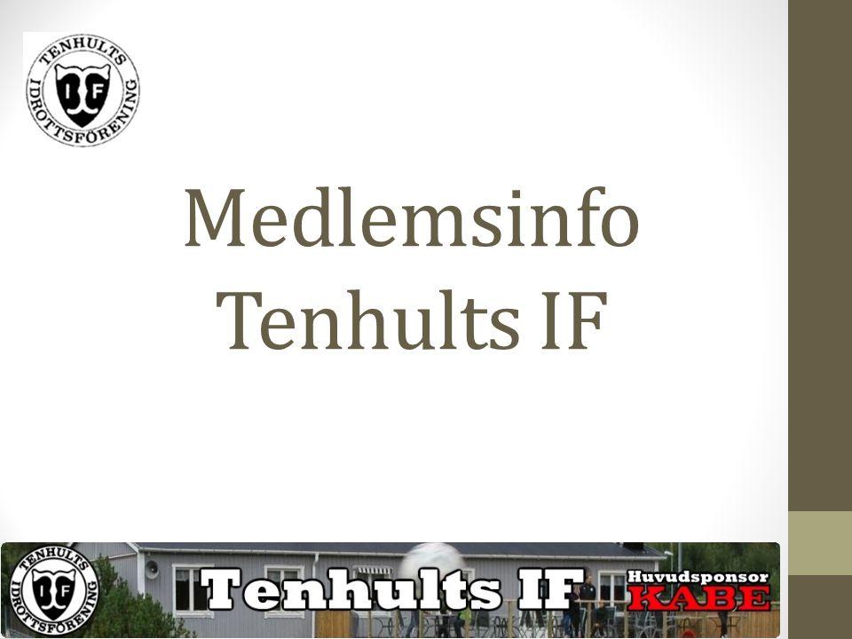 Medlemsinfo Tenhults IF