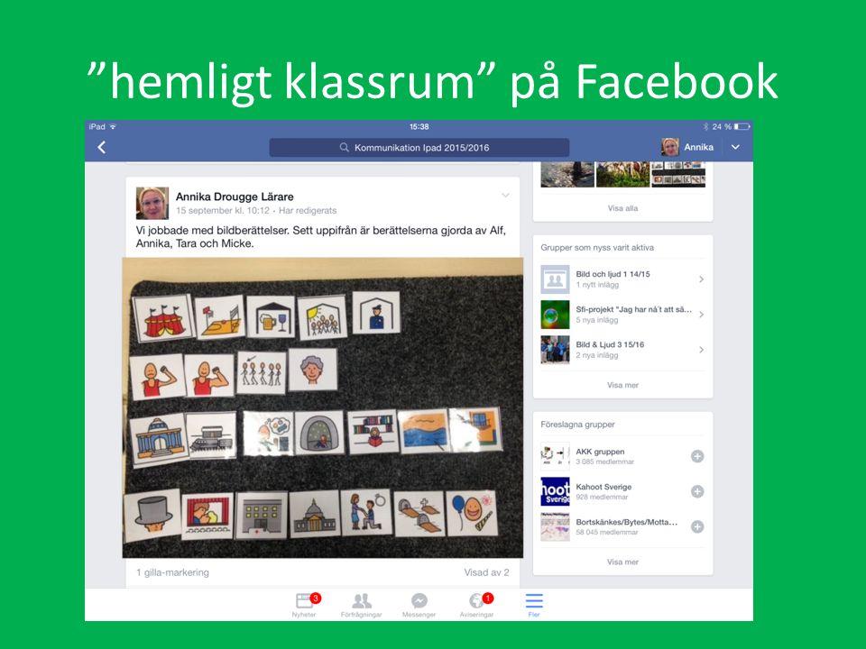 hemligt klassrum på Facebook