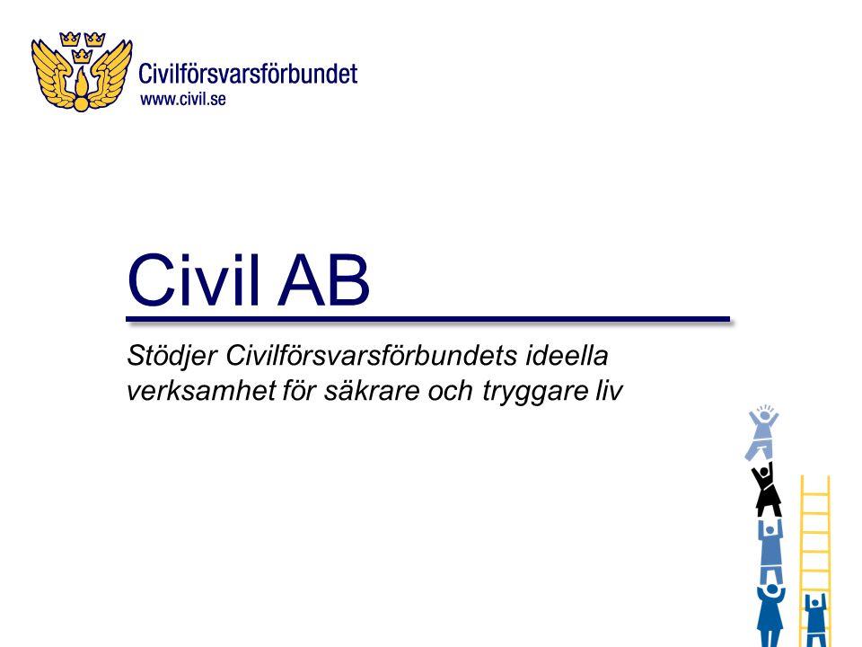 Civil AB är ett helägt dotterbolag till Civilförsvarsförbundet.