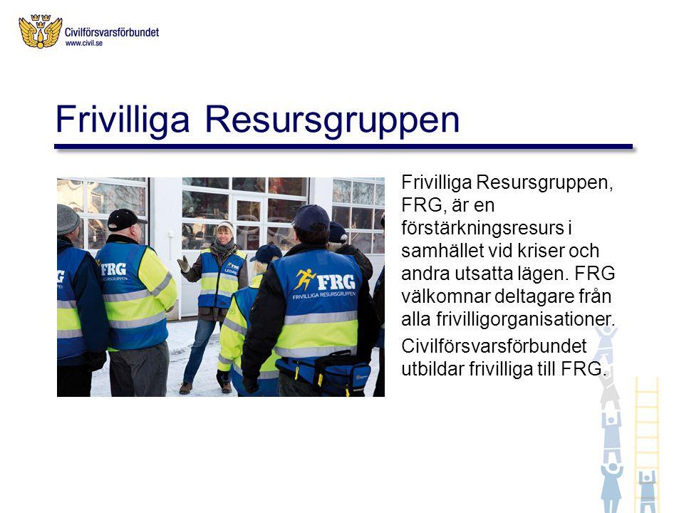 Frivilliga Resursgruppen, FRG, är en förstärkningsresurs i samhället vid kriser och andra utsatta lägen.
