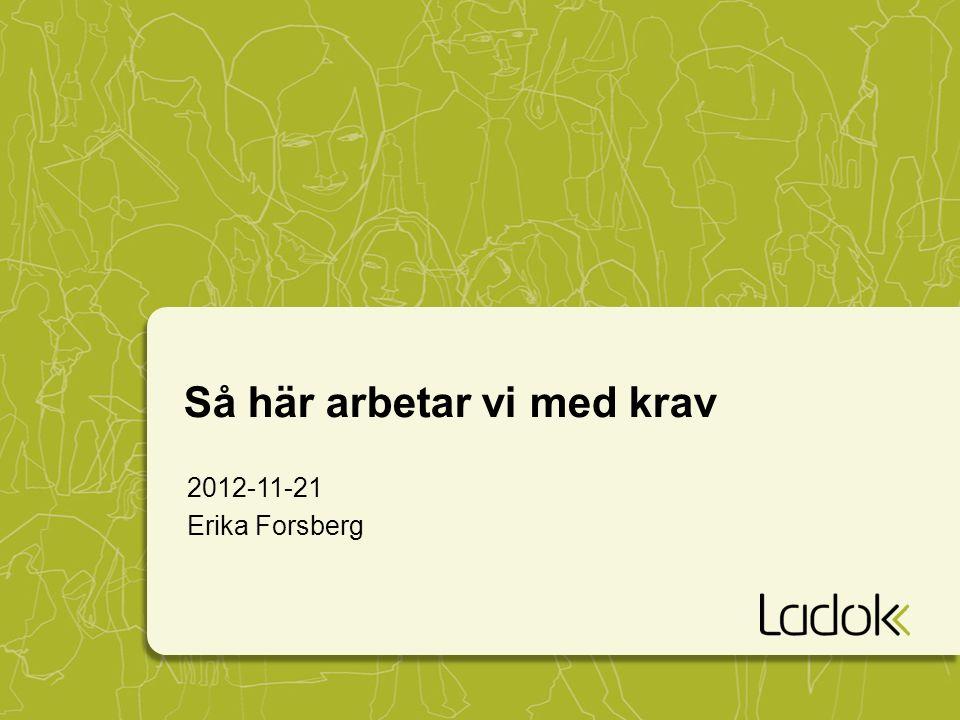 2012-11-21 Erika Forsberg Så här arbetar vi med krav