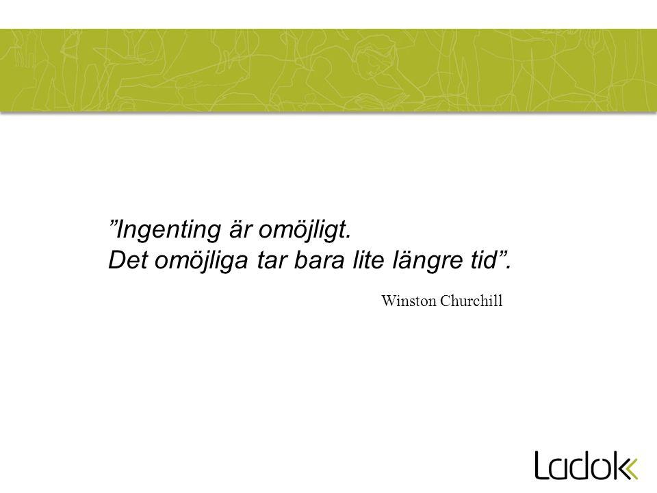 """""""Ingenting är omöjligt. Det omöjliga tar bara lite längre tid"""". Winston Churchill"""