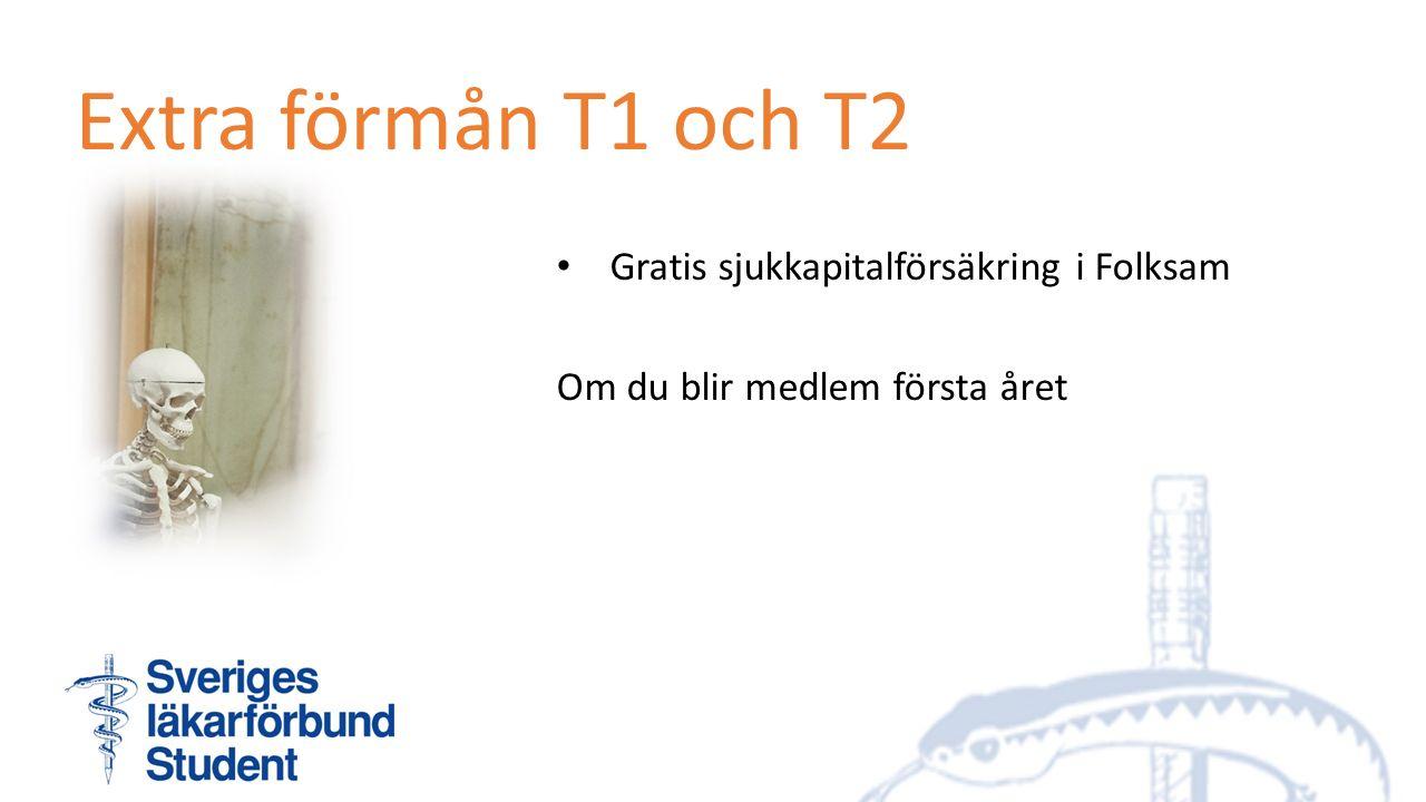 Extra förmån T1 och T2 Gratis sjukkapitalförsäkring i Folksam Om du blir medlem första året